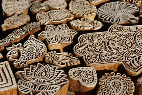 Indian wooden stamps