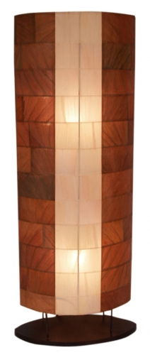 Floor lamp/floor lamp, handmade in Bali from natural material, banana leaves - model Konga - 100x36x18 cm