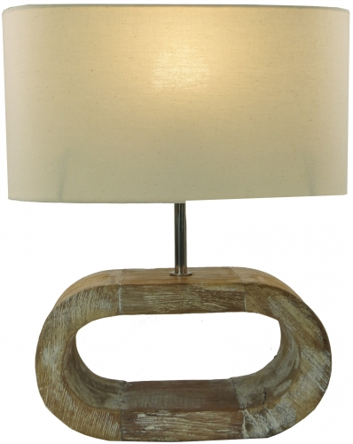 Table lamp/Table Lamp, Shabby Chic Look, handmade in Bali from natural material - Model Umbra - 42x35x15 cm