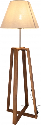 Floor lamp/floor lamp, handmade, teak, cotton fabric - model Dakama 90cm