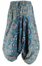 Children pants, harem pants, Aladdin pants - petrol