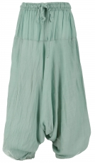 Children trousers, harem trousers, Aladdin trousers - aqua