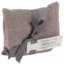 Handmade scented soap in cotton bag, 100 g Fair Trade - Lavender