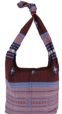 Sadhu Bag, Boho shoulder bag, Hippie bag - burgundy/blue