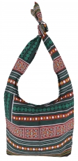 Sadhu Bag, Boho shoulder bag, Hippie bag - green/rusty