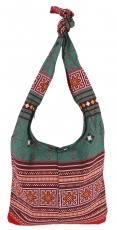Sadhu Bag, Boho shoulder bag, Hippie bag - rust/green