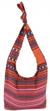 Sadhu Bag, Boho shoulder bag, Hippie bag - orange/pink