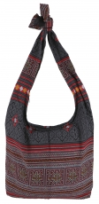 Sadhu Bag, Boho shoulder bag, Hippie bag - black/red