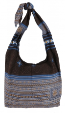 Sadhu Bag, Boho shoulder bag, Hippie bag - brown/blue