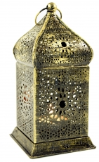 Oriental brass lantern in Moroccan design, wind light