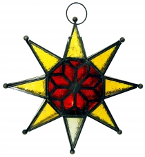 Oriental glass star in Moroccan design, lantern - model 2