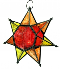 Oriental glass star in Moroccan design, lantern - Model 1
