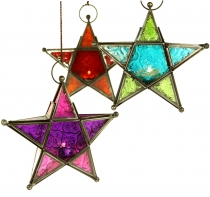 Oriental glass star in Moroccan design, wind light