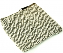 Ethno wallet, fabric wallet - olive