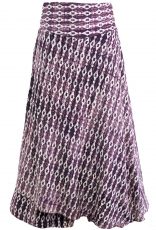 Ethno trouser skirt, Boho maxi skirt - blackberry