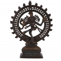 Brass figure, statue Shiva in fire wreath 29 cm - motif 8