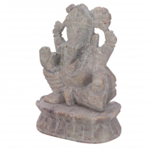 Ganeah figure in soapstone, Ganesha sculpture - Model 2