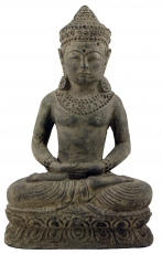 Small sitting stone Buddha 30 cm