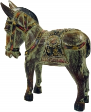 Carved horse, wooden decorative object - Design 2