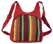 Ethno backpack, Nepal backpack - red