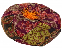 singing bowls cushion - bordeaux/brown