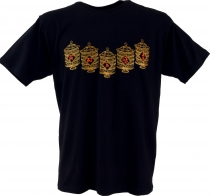 Tibet Buddhist Art T-Shirt - Prayer Mill/black