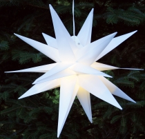 3D outer star Kaspar, Ø 55 cm, Christmas star, folding star with ..