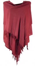 Light scarf, plain shawl - bright bordeaux red