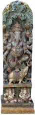 Antique wood sculpture XXL, wall decoration - Ganesha