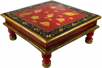 Painted small table, mini table, flower bench - Maritim red/black