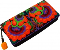 Embroidered ethno wallet Chiang Mai, Boho wallet - orange