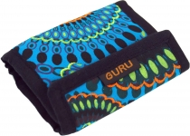 Embroidered wallet retro - turquoise