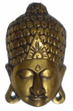 Buddha mask gold, wall decoration, ethno wall decoration made of ..