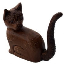 Decoration cat, carved ring cat no. 2