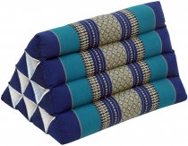 Triangle Thai cushion, Triangle cushion, Kapok - blue