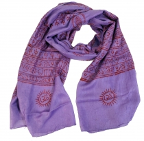 Thin Baba cloth, Benares Lunghi - purple