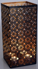 square metal lantern lamp, suitable for tea light candles or as a..