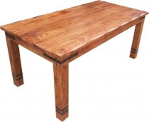 Dining table with round edges fittings R509 light - model 2