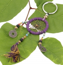 Keyring pendant, bag pendant dreamcatcher - purple