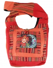 Sadhu Bag, shoulder bag, hippie bag turquoise 30x35x10 cm
