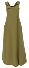 bib skirt, dress, hippie skirt - olive green