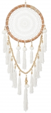 Dreamcatcher Boho - white, 32 cm
