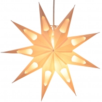 Foldable Advent illuminated paper star, poinsettia 40 cm - Aquari..