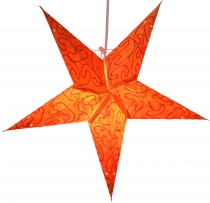 Foldable Advent illuminated paper star, Poinsettia 40 cm - Mercur..