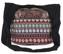 Sadhu Bag, shoulder bag, hippie bag Ikat - black/red