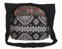 Sadhu Bag, shoulder bag, hippie bag Ikat - black/purple
