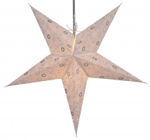 Foldable Advent illuminated paper star, Poinsettia 60 cm - Ares