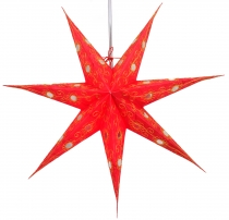 Foldable Advent light paper star, Christmas star 60 cm - Agamemno..