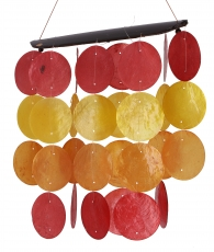 Long shell wind chime, Klangspiel - Summer Colours
