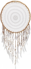 Big exclusive dream catcher - white 50 cm